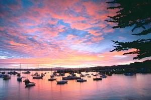 CA583-Monterey Bay At Sunrise -leveled