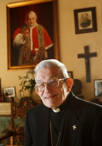 ARCHBISHOP LORIS CAPOVILLA, PERSONAL SECRETARY OF BLESSED JOHN XXIII, PICTURED AT RESIDENCE