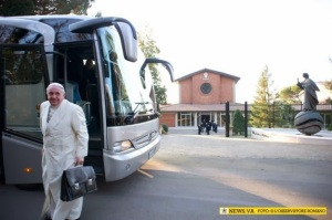 Pope on retreat