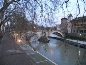 Along the Tiber