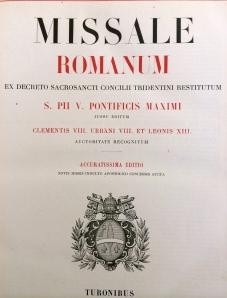 1896 Missale Romanum Title Page