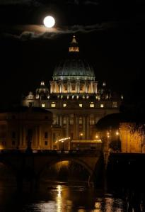 Moon Over St. Peter's